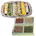 Combo of Assorted Dry Fruits and Assorted Sweets