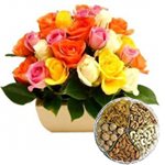 Combo of 24 Mixed Roses and Mixed Dry Fruits