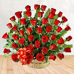 Arrangement of 50 Red Roses