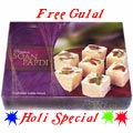 Nicely Gift Wrapped Soan Papdi 500 Gms.  from Haldiram with free Gulal/Abir Pouch.
